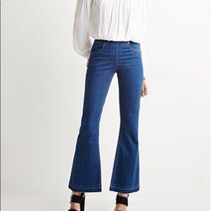 Forever21 Frayed Hem Flare Jeans